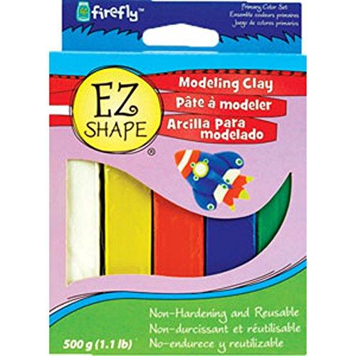 Ez Shape Modeling Clay - 5 Asst Colors, Primary, 1.1 Lb - 1 Pkg