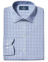 Buttoned Down Men's Non-Iron Slim-Fit Spread-Collar Dress Shirt