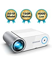 """Mini Projector, GooDee 4000 Lumens Portable HD Video Projector 200"""" Display 1080p Supported LCD Home Movie Projector Compatible with HDMI VGA Av USB Micro SD"""