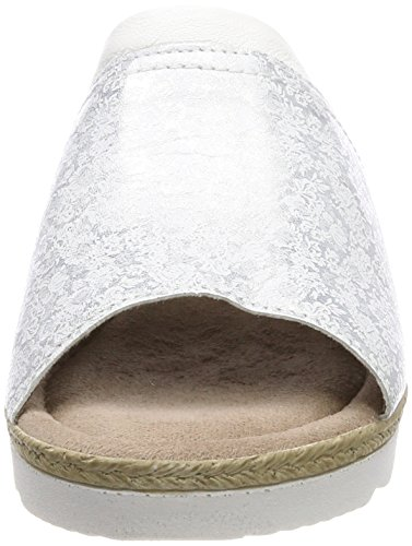 Silver Pantoletten Weiß Damen Jana White 27290 wnXqWYgp4