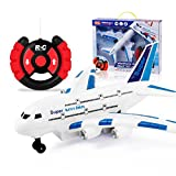 Airplane Model Toy Cocal Air Bus Model Remote Control Aircraft With Light Music Children's Toys Gifts