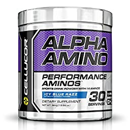 Cellucor Alpha Amino Acid Supplement with BCAA, Icy Blue Razz, 13.54 Ounce (30 Servings)