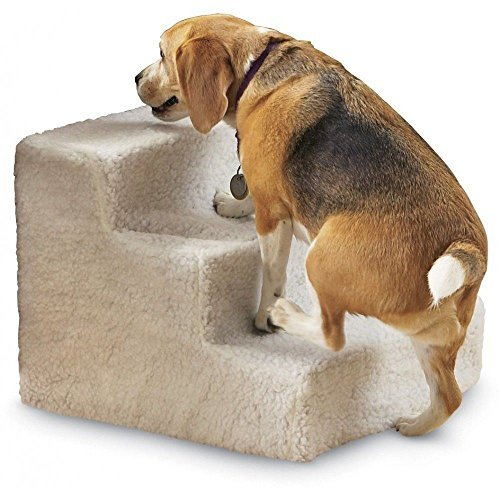 Three 3 Step Stairs Pet Dog Cat Soft Covered Staircase Doggy Steps Indoor New by Pets Step