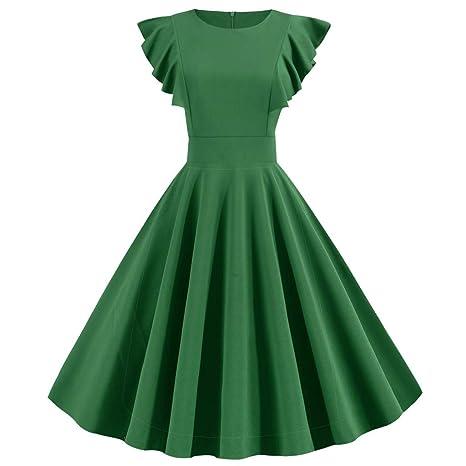ღLILICATღ Vestido Vestido Vintage para Mujer, Fiesta Mujer ...