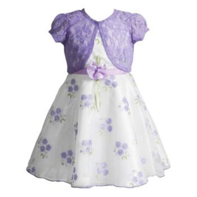 Amazon.com: Youngland Little Girls Schiffli Coral con ...