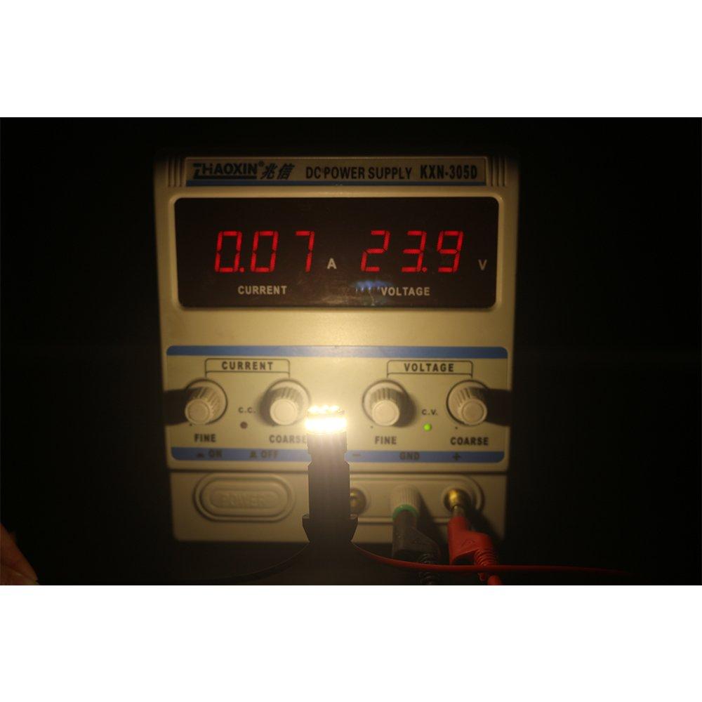 18SMD 3014 Sostituzione Auto per Mappa Leggera Cupola di Luce Indicatore di Luce Laterale Luci Targa 4-Pack T10 194 168 2825 Bianco Caldo 3000K 5a Generazione Senza Polarit/à LED Light 12V-24V