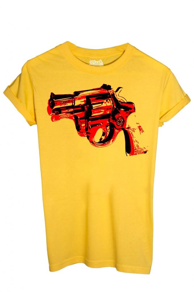 T-SHIRT GUN ANDY WARHOL-FAMOUS by MUSH Dress Your Style