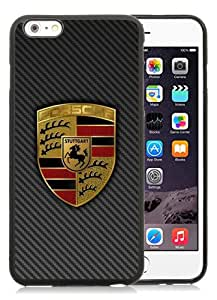 Unique iPhone 6/6S Plus TPU Case ,Popular And Fashionable Designed Case With Porsche logo 4 Black iPhone 6/6S Plus Phone Case