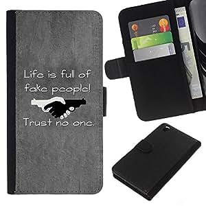 All Phone Most Case / Oferta Especial Cáscara Funda de cuero Monedero Cubierta de proteccion Caso / Wallet Case for HTC DESIRE 816 // Black & White Optical Heart