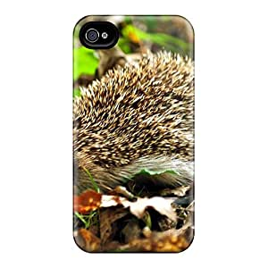 New Premium Flip Case Cover Sweet Little Hedgehog Skin Case For Iphone 4/4s
