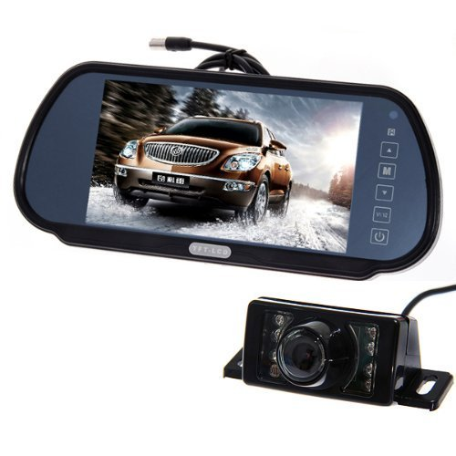 ATian Waterproof 18 LED Car Rear View Night Vision Reverse Video Backup Parking Camera White color
