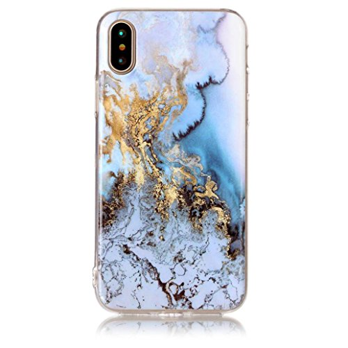 For iPhone X Case,HP95(TM) Fashion Marble Pattern TPU Phone Cases For Apple iPhone X/iPhone X Edition/iPhone 10 (B)