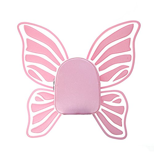 MIMI KING Belle Sac À Dos École College Style PU Cuir Butterfly Wing Design Mode Mignon Petits Sacs À Provisions Pink