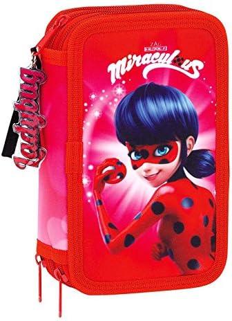 Lady Bug Miraculous Ladybug Plumier Triple 36 Piezas, Color Rosa, 20 cm (SAFTA 411712857): Amazon.es: Juguetes y juegos