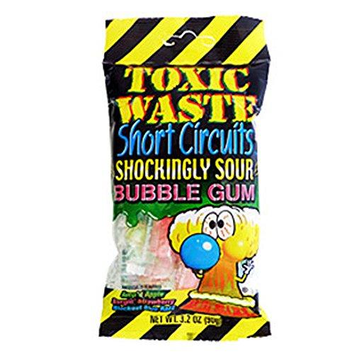 Toxic Waste Short Circuits Sour Bubblegum Packs 12 Count