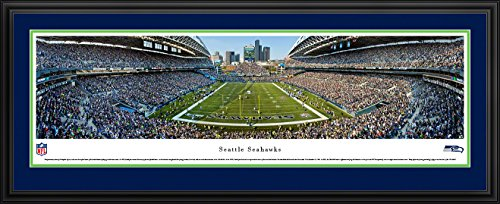 - Seattle Seahawks -End Zone at Centurylink Field - Panoramic Print