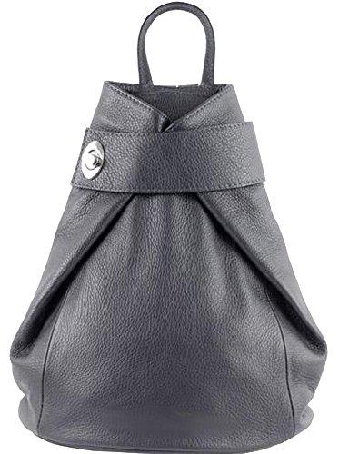 Bottega Carele - Bolso mochila  de Piel para mujer gris