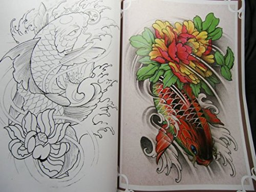 yuelong china rare tattoo flash book koi fish reference book for tattoo supply buy online in. Black Bedroom Furniture Sets. Home Design Ideas