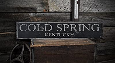 The Lizton Sign Shop Cold Spring, Kentucky - Vintage City and State Wood Sign, Rustic Wooden Sign