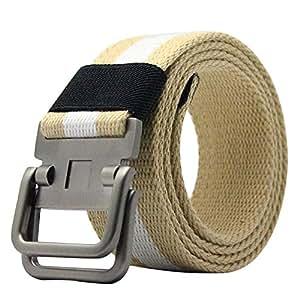 treestar ajustable hombres ms lienzo Estudiante vaquero estilo deportivo diseño de arco iris hebilla de cinturón aleación Casual Fashion… lZKjuw