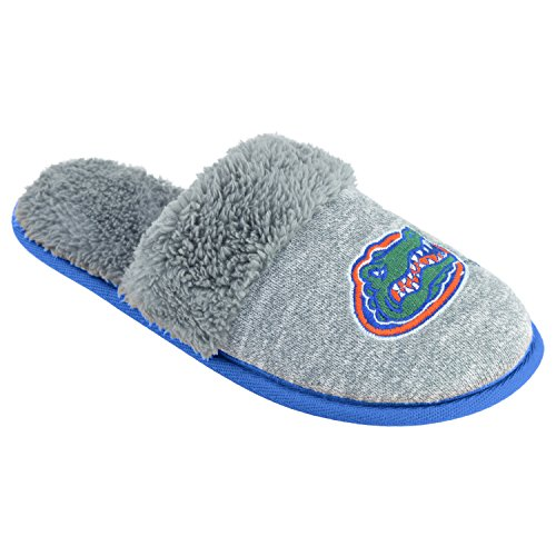 College Edition NCAA Florida Gators Women's Scuffscuff Shoes, Gray, X-Large - Florida Gators Plush Football