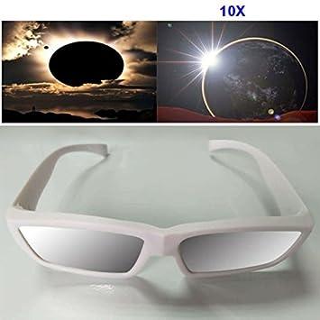 10Pcs protege los ojos El CE certific/ó el vidrio de Sun de la observaci/ón de los eclipses Espeedy Visi/ón pl/ástica de los vidrios solares del eclipse de la manera 1//3//5