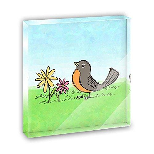 Robin in Spring Acrylic Office Mini Desk Plaque Ornament ...
