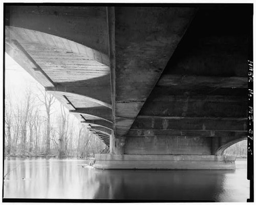 HistoricalFindings Photo: Mosel Avenue Bridge,Kalamazoo River,Kalamazoo County,Michigan,MI,Engineering,4 (Kalamazoo Furniture)