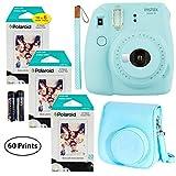 Fujifilm Instax Mini 9 Instant Camera (Ice Blue), 3x Twin Pack Instant Film