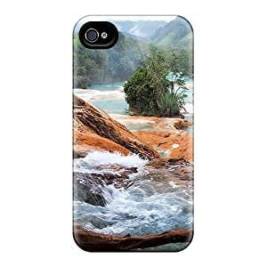 Snap-on Case Designed For Iphone 4/4s- Rapid Rocky Stream