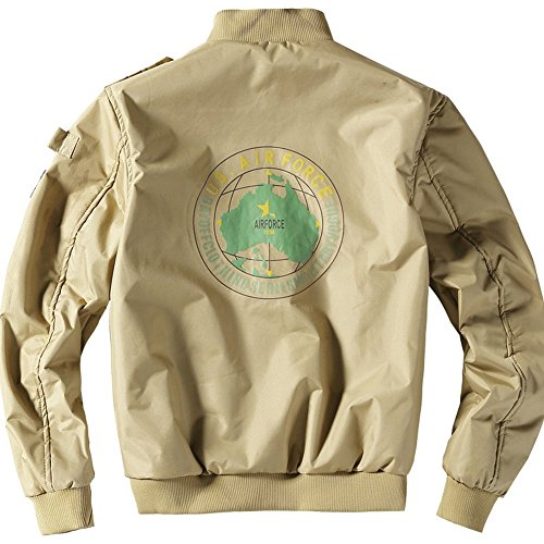 JIINN Winter Jacket Autumn Style Flight New Uk2113h Bomber Khaki Thick Plus Men's MA1 Coat Velvet Police HqHrBxpwn