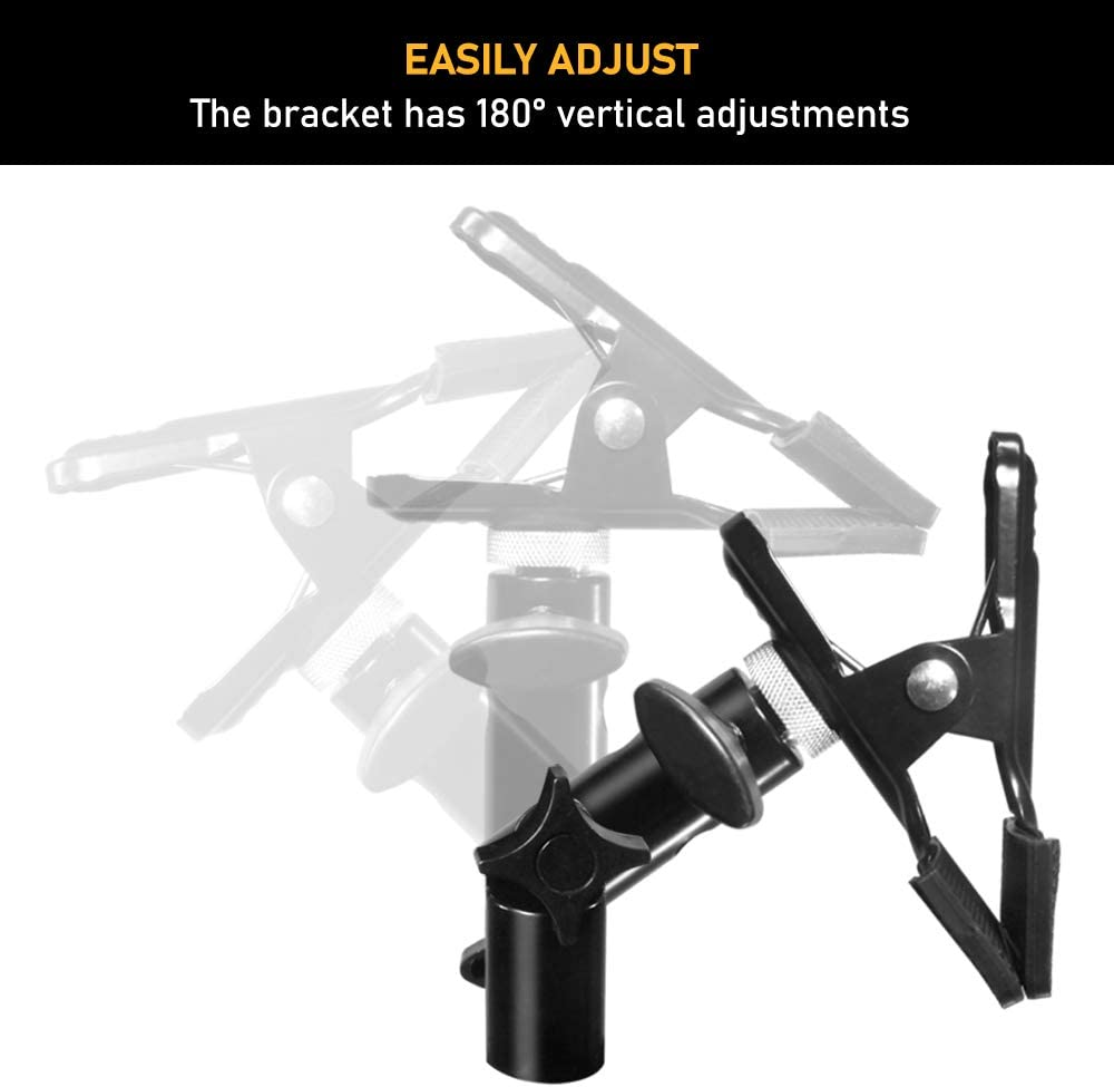 JSAG561 Julius Studio Photography Studio Heavy Duty Metal Clamp Holder for Reflector Stand Holder Light Stand Umbrella