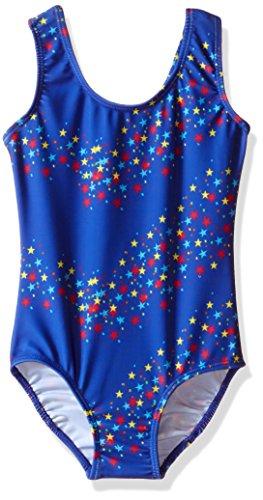 Danskin Big Girls' Gymnastics Leotard, Royal Star, Intermediate (6X-7)