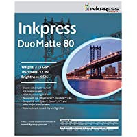 INKPRESS MEDIA 215 GSM, 12 Mil, 95 Percent Bright, Double Sided Photo Paper (#PP801350) by INKPRESS MEDIA
