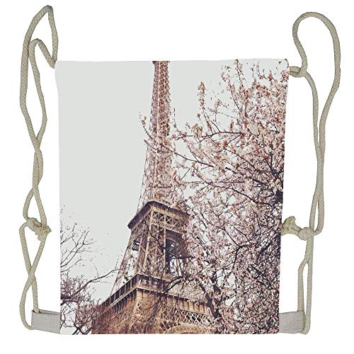 (WATINCFlagHomegg Jianyue Tour Eiffel Drawstring Bag Men Womens Gym Backpack Vintage Mens Travel Small Bags For Youth)