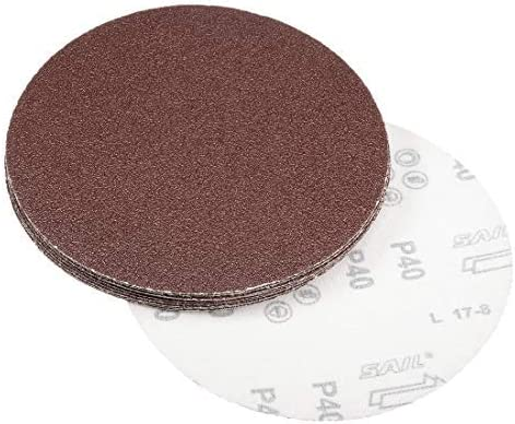 7-inch sanding discs 40-grit sandpaper for 10-piece sander