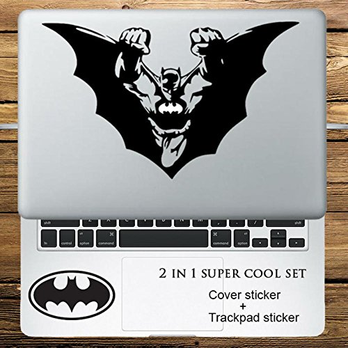 Circle Love Computer Decals Batman Super Hero 2 In 1 Cover Sticker + Trackpad Stickers Set Laptop Decal Sticker For Macbook Pro Air Retina 11