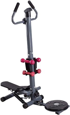 Stepper con cintas de entrenamiento Gimnasio interior Escalera Stepper Gimnasio ajustable Stepper Máquina de ejercicios Cardio Exercise Trainer Disco retorcido con asas Para principiantes y usuarios a: Amazon.es: Hogar