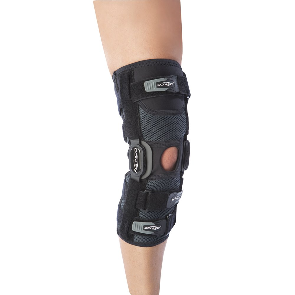DonJoy Playmaker II Knee Support Brace with Patella Donut: Spacer Sleeve, Medium