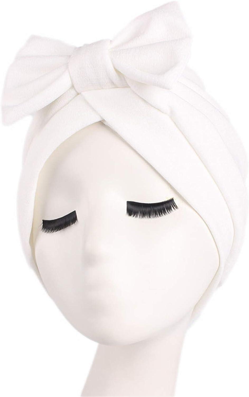Bansca Women Bow Hat Beanie Scarf Turban Head Wrap Chemo Cap