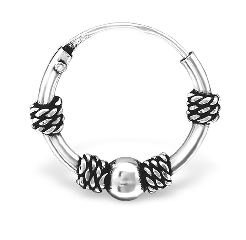 20G Hypoallergenic Sterling Silver Bali Cartilage Hoop Earring, Style 6