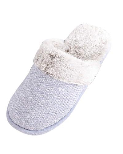 Suncaya Donna Uomo Coppia Pantofole Calde Interne Casa Autunno Inverno  Scarpe da Casa 3a16e7aac12