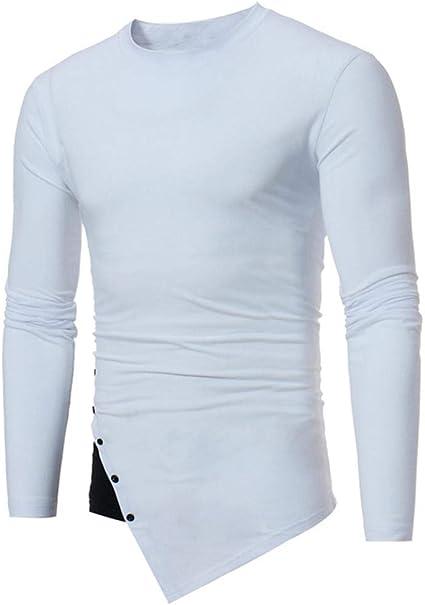 yuny Oud Hombres Casual manga larga o de enfoque irregulares Patchwork Camiseta Top Blusa Hombre sporthemden herrenhemden Baumwolle camisas corte entallado comprar Camisa blanca Slim Fit: Amazon.es: Belleza