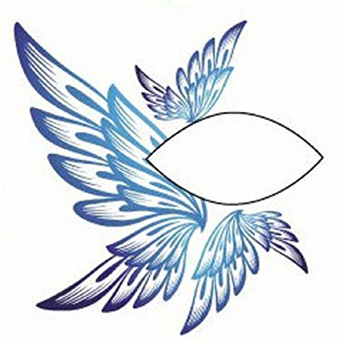Lookatool Halloween Party Temporary Eye Tattoo Eyeshadow Eyeliner Sticker Makeup (A) (Butterfly Makeup)