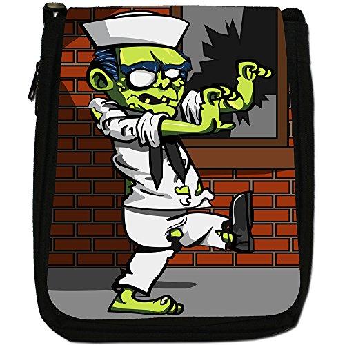 Bag Plague Navy Black Living Zombie Size Shoulder Dead Canvas Medium Sailor CPqOdx0