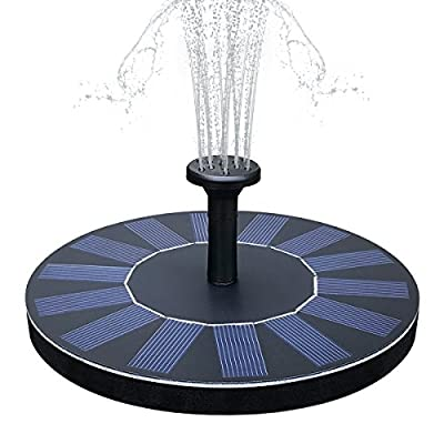 SOARAISE Solar Fountain Pump for Bird Bath Free Standing Solar Powered Water Pump Panel Kit Outdoor for Pond, Garden