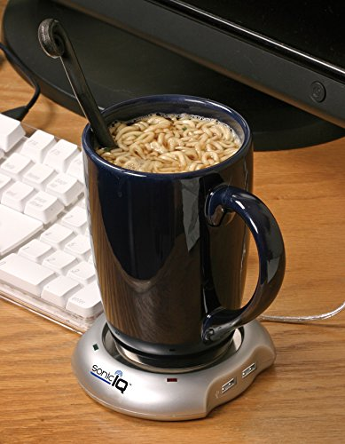 [해외]USB Mug Warmer는 PC 및 Mac 용 유선 4 포트 USB 허브로 커피와 차가 따뜻하게 유지합니다/USB Mug Warmer Keep Coffee And Tea Warm With Wired 4-Port USB Hub For PC And Mac