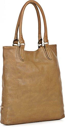 rehard, Sac à main femme Sacs à main, sac à bandoulière, Shopper Tote Bag, Tote, Cognac, 38x 36x 8,5cm (B x H x T)