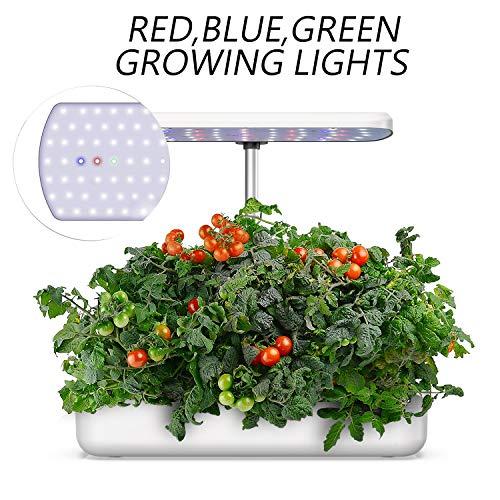 Blaward Hydroponics Growing System, Indoor Herb Garden Starter Kit with LED Grow Light, Smart Garden Planter, Automatic Timer Germination Kit, Height Adjustable