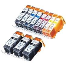 11 Pack Compatible CLI 221 , CLI-221 , CLI221 , PGI 220 , PGI-220 , PGI220 3 Big Black, 2 Small Black, 2 Cyan, 2 Magenta, 2 Yellow for use with Canon PIXMA Ip3600, PIXMA Ip4600, PIXMA Ip4700, PIXMA MX860, PIXMA MX870. PIXMA Ip 3600, PIXMA Ip 4600, PIXMA Ip 4700, PIXMA MX 860, PIXMA MX 870.. Ink Cartridges for inkjet printers. Blake Printing Supply